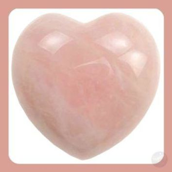 """Loving Goddess Energy"" Rose Quartz Heart"