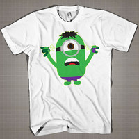 HULK MINION Parody  Mens and Women T-Shirt Available Color Black And White