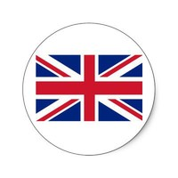 Union Jack Products and T shirts Round Sticker from Zazzle.com