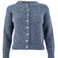 Fuzzy Wool Crop Cardigan