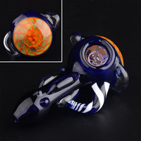GLASS PIPE Honeycomb head bowl Spoon tobacco pipes for Smoking Mini Hand Pipes Hammer