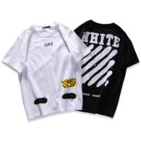 OFF-WHITE Splash-ink short sleeve top