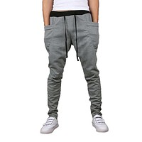 IMC 8 Colors 2017 Unique Pocket Mens Joggers Cargo Men Pants Sweatpants Harem Pants Men Pants Men Pantalones Hombre