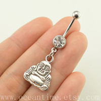 Buddha Belly Button jewelry,Buddha belly button ring, Navel Jewelry,bellyring friendship belly button jewelry