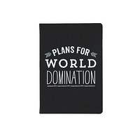 Plans for World Domination Journal in Black and White