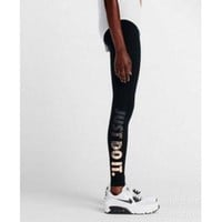 DCCKIG3 NIKE LEG-A-SEE JUST DO IT METAL WOMEN RUNNING TIGHTS