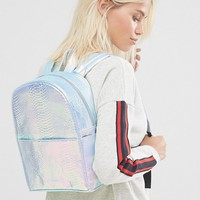 Skinnydip Exclusive Holographic Faux Snake Backpack