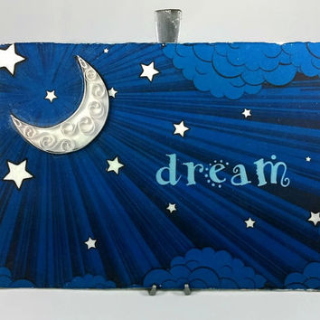 Bedroom Wall Art Dream Art - bedroom decor, bedroom wall decor, bedroom art, dream print, dream wall art, paper quilling art, moon art print