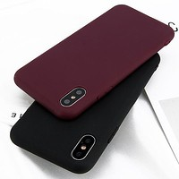 Ultra Thin Shockproof Matte Rubber Soft Case Cover for iPhone X 6s 7 8 Plus