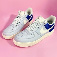 NIKE Air Force 1 low is a hot seller of casual casual shoes in blue and white