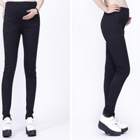 Fashion Cotton Maternity Pants skinny Pregnant Women Trousers Slim pencil pants Leggings Black/Gray/Coffee/ Deep Green /Wine Red = 1946270596