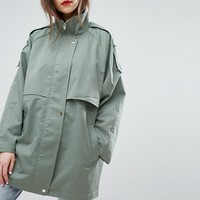 Moss Copenhagen Casual Overcoat at asos.com