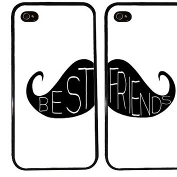 BFF Case / MOUSTACHE iPhone 4 Case Best Friends iPhone 5 Case iPhone 4S Case iPhone 5S Case One For Your BFF Set Phone Cases Gift s3 s4