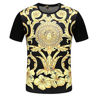 VERSACE Summer Fashion Men Casual Short Sleeve T-Shirt Top Tee