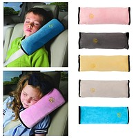 Baby Pillow Kids Shoulder Pad Cover Car Seat Belt Harness Children Head Covers Anti Roll Pillow Cushion