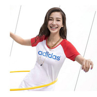 """Adidas"" Letter Print Round Neck Multicolor Short Sleeve Casual Women T-shirt"