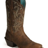 Ariat Saddle Vamp Legend Riding Cowgirl Boots - Square Toe - Sheplers