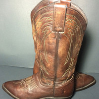 FRYE 77689 Billy Pull On Dark Brown Cowgirl Boots Women's Size 7