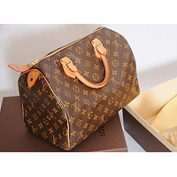 Louis Vuitton LV Fashion Women Shopping Leather Tote Handbag Shoulder Bag