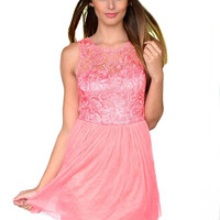 In Between Dreams Lace Dress - Blush Pink