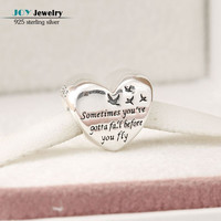 Fit Pandora Charm Bracelet Diy Original 925 Sterling Silver Jewelry Heart of Freedom Charms Beads For Jewelry Making 2016 Autumn