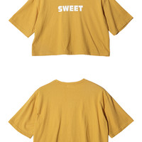 SWEET Print Crop T-Shirt