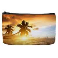 Cosmetic Bag in sunset pattern in orange color for cosmetic pouch bags for large pencil case