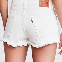 Levis 501 Frayed Denim Short - White - Urban Outfitters