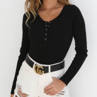New knit bottoming shirt Autumn sexy slim section open buttoned jumpsuit women