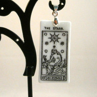 The Star Card, Greater Arcana Tarot Card Necklace