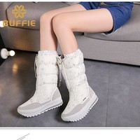 Buffie winter hot selling female women boots four colour white black grey and navy  botas hot selling china brand winter boots