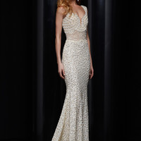 Plunging Sweetheart Neckline Formal Prom Dress By Jasz Red 5320