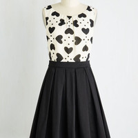 Mid-length Sleeveless Fit & Flare Chic Sweetheart Dress
