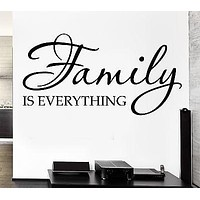 Vinyl Decal Family Is Everything Quote Decor for Bedroom Wall Sticker Unique Gift (ig1153)