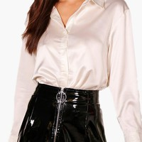 Margot Premium Satin Shirt | Boohoo