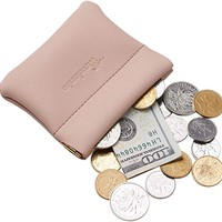 Genuine Leather Squeeze Coin Purse Pouch Change Holder For Men & Women