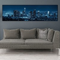 Canvas Painting wall art poster Abstract city night painting Picture wall picture art print sart  home decor canvas art no frame