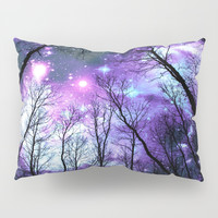 Black Trees Purple Pink Blue Space Pillow Sham by 2sweet4words Designs