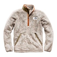 Men's Campshire Sherpa Fleece Pullover in Granite Bluff Tan & Beech Green by The North Face