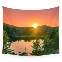 Society6 Wetmore Pond Sunset Wall Tapestry