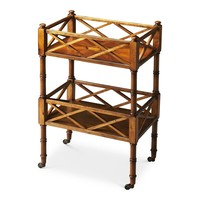 The Master Bar Cart/Server - Ash Burl