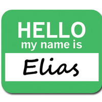 Elias Hello My Name Is Mouse Pad