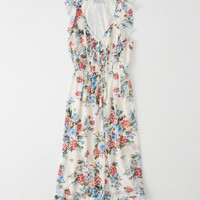 Womens Ruffle Midi Dress | Womens Dresses & Rompers | Abercrombie.com