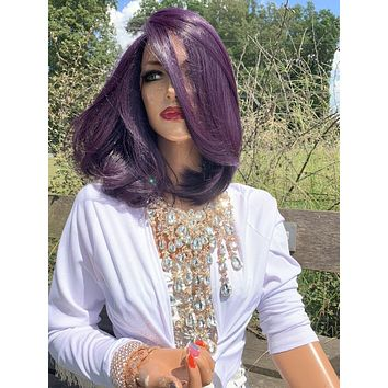 Purple Hair Lace Wig, Volume Bob Hair Style 919 13 PERSTEPHNEY