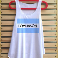 louis tomlinson shirt one direction tank top singlet clothing vest tee tunic - size S M