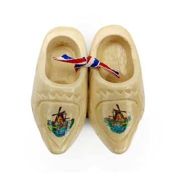 Carved Dutch Clog Wooden Shoes