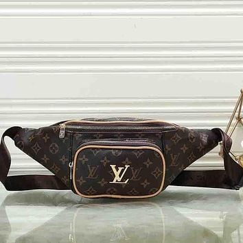 Louis Vuitton LV Women Leather Waist Bag Single-Shoulder Bag Crossbody