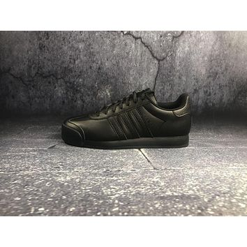 Adidas Originals Samoa W Pigskin Black Sports Running Shoes