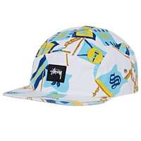 Stussy: Flags Camp Cap - White