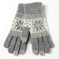 Warmen Women's Touch Screen Wool Winter Gloves Mittens for Ipad Iphone Smart Phone (Light Grey)